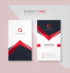 corporate business card design template vector image