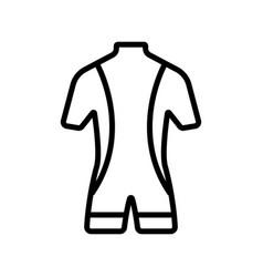 Costume scuba diver icon isolated contour vector