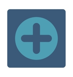 Create flat cyan and blue colors rounded button vector