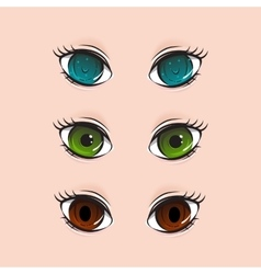 different set of eyes vector image