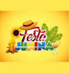 festa junina summer parties vector image