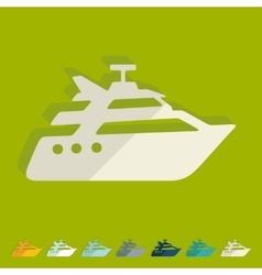 Flat design yacht vector