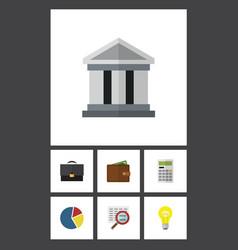 flat icon incoming set of billfold bank vector image