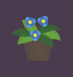 flat shading style icon violet in the pot vector image