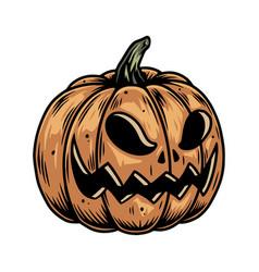 Halloween colorful concept pumpkin vector