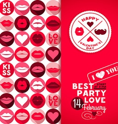 Happy Valentines Day backgroundPost card and invit vector image