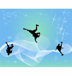 hip-hop dancers vector image