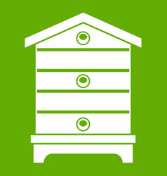Hive icon green vector