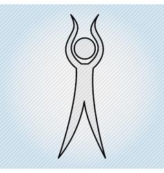 Human figure design vector