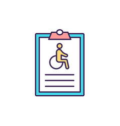 Individual disability insurance rgb color icon vector