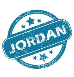 JORDAN round stamp vector