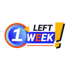Last week left isolated icon sale countdown vector