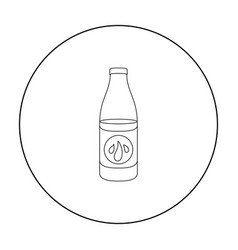 Lotion icon in outline style isolated on white vector