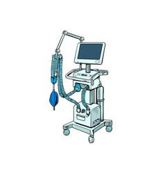 Medical ventilator treatment lung diseases vector