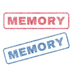 Memory textile stamps vector