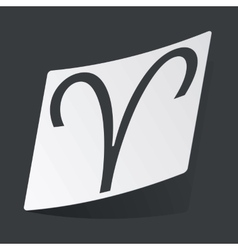 Monochrome Aries sticker vector image