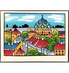 night Medieval Old Town Tallinn Estonia vector image