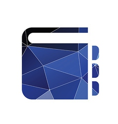 Notepad icon Abstract Triangle vector