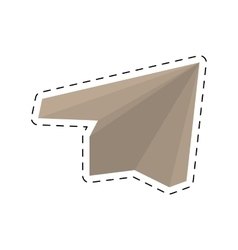 paper plane origami modeling creative cut line vector image