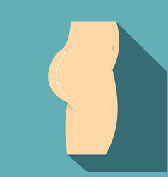 Plastic surgery buttocks correction icon vector