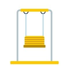 Playground swing icon vector