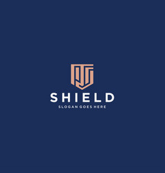 Ps shield logo vector