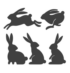 rabbit set vector image