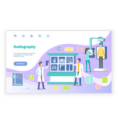 radiography doctors in laboratory with ct xrays vector image