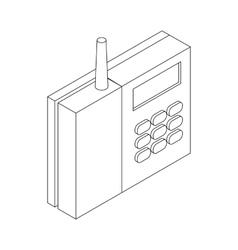 Radiotelephone icon isometric 3d style vector image