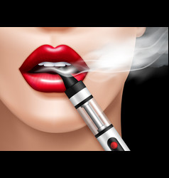 Realistic vaping vector