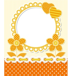Retro style scrapbook floral frame vector image
