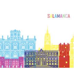 Salamanca skyline pop vector