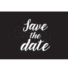 save date inscription greeting card vector image