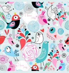 seamless bright multi-colored pattern birds vector image