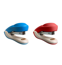 set of 2 staplers realistic vector image