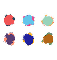 Set of abstract colorful fluid or liquid elements vector
