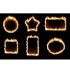 set of fire frames vector image