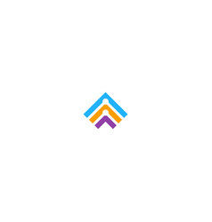 shape line triangle colored technology logo vector image