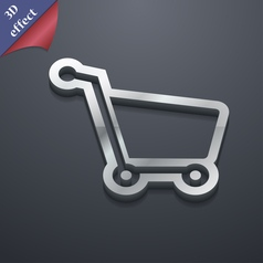 Shopping cart icon symbol 3D style Trendy modern vector