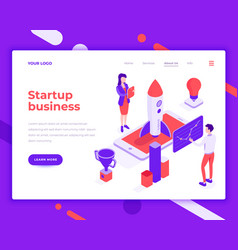 startup business teamwork people and interact vector image