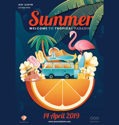 summer element poster layout vector image