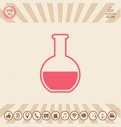 test-tube symbol icon vector image
