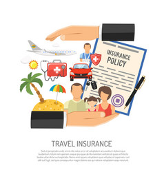 Travel insurance concept vector