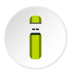 USB flash drive icon flat style vector image