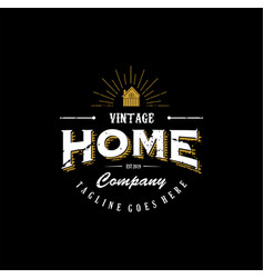 Vintage home for architectural luxury logo icon vector