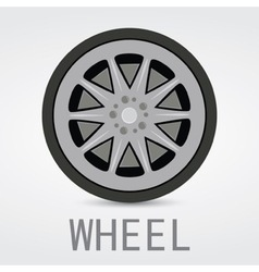 Wheel Logo Design vector image