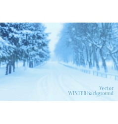 Winter Blurred Background vector image