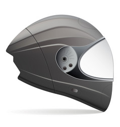 black motorcycle helmet side view isolated on a vector image vector image