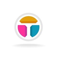 Letter T tech logo vector image
