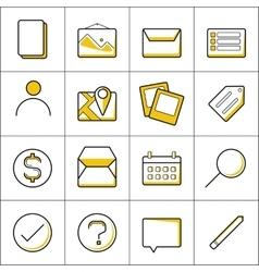 Outline business icons vector image vector image